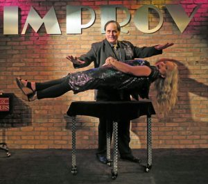 magician Dal Sanders performs levitation act